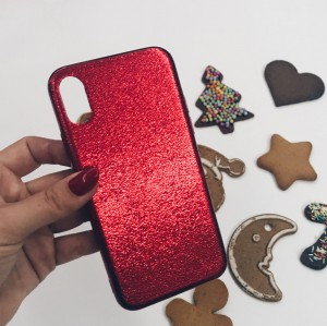 Case Red shine Iphone X