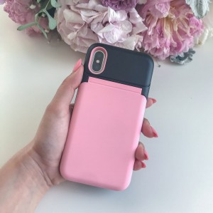 Wallet case pink Iphone 7 plus
