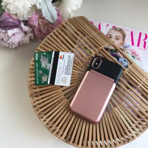 Wallet case rose gold Iphone 7 plus